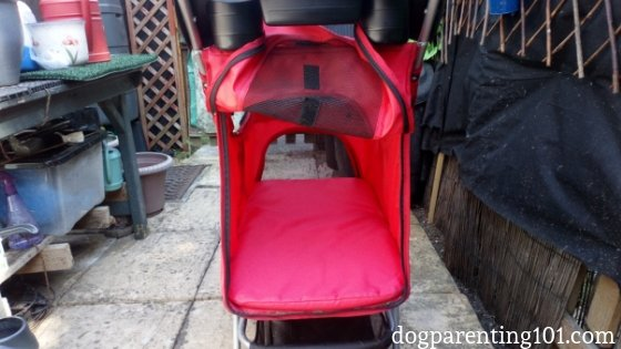pet stroller with rear entry