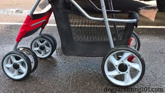 type of wheels matter on a doggy stroller
